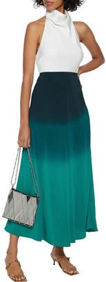 Rixo Kelly Degrade Silk Crepe De Chine Midi Skirt