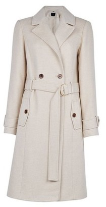 Dorothy Perkins Womens White Winter Utility Wrap Coat