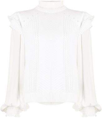 Nicole Miller Georgette pintuck blouse