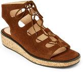 Bettye Muller Scotch Midas Cork Wedge Lace-Up Sandals