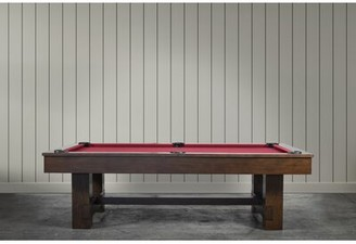 Pool' The Bruiser 8' Pool Table Iron Smyth Finish: Sable, Felt Color: Red