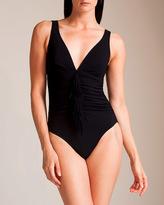 Karla Colletto Fringe V-Neck Tank Swimsuit