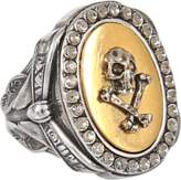 Alexander McQueen Skull and Ribbon ring