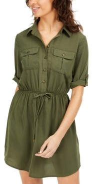BeBop Juniors' Drawstring Utility Shirtdress
