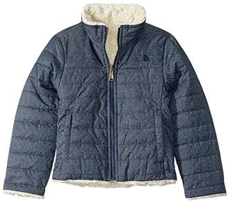 The North Face Kids Reversible Mossbud Swirl Jacket (Little Kids/Big Kids) (Montague Blue Denim Print - Prior Season) Girl's Coat