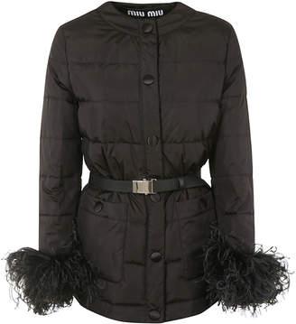Miu Miu Belted Padded Coat