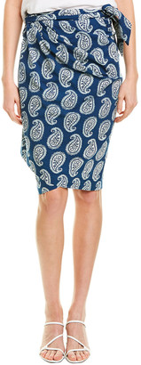 Fifteen-Twenty Fifteen Twenty Printed Wrap Skirt