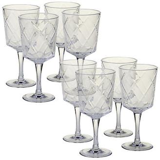 One Kings Lane Set of 8 Drazen Acrylic Goblet Set - Clear