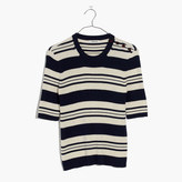 Madewell Ribbed Sweater Top in Stripe