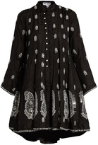 Juliet Dunn Embroidered silk dress
