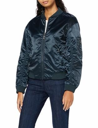 Find. Amazon Brand Women's Bomber Jacket Satin Long Sleeves Crew Neck