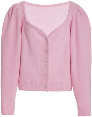 Markarian Crystal Heart Cashmere-Silk Cardigan