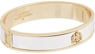 Lauren Ralph Lauren Crest Bangle Bracelet (Two-Tone) Bracelet