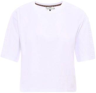 Fendi Crewneck Cropped T-Shirt