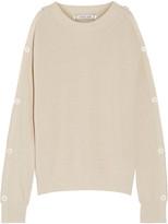Helmut Lang Cutout Button-detailed Cotton And Cashmere-blend Sweater - medium