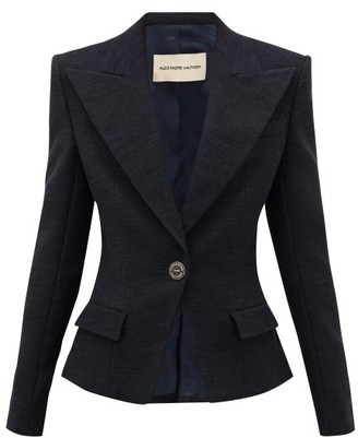 Alexandre Vauthier Tailored Cotton-blend Tweed Blazer - Black Navy