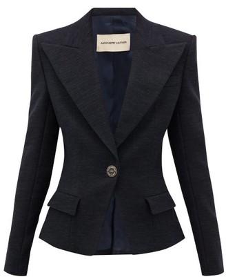 Alexandre Vauthier Tailored Cotton-blend Tweed Blazer - Black Navy