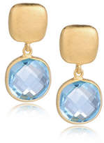 Piara Goldplated Sterling Silver and Topaz Drop Earrings