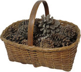 One Kings Lane Vintage Antique Splint Basket With Pinecones