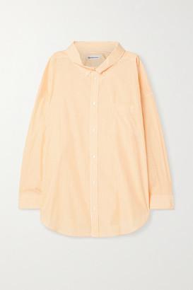 Balenciaga Oversized Printed Striped Cotton-poplin Shirt - Yellow