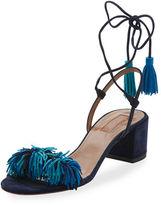 Aquazzura Wild Thing Suede 50mm Sandal