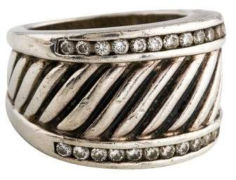 David Yurman Diamond Sculpted Cable Ring
