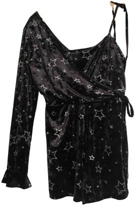 Topshop Tophop Black Velvet Jumpsuit for Women
