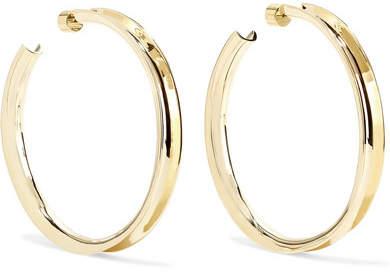 Jennifer Fisher Reverse Gold-plated Hoop Earrings