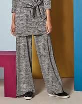 Fashion World Wide Leg Stretch Jersey Trousers Reg