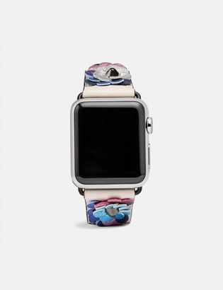 Coach Apple Watch Strap With Leather Sequins