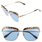 Sonix Women's Highland 61Mm Square Sunglasses - Blue Tint/ Brown Tortoise