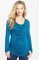 Japanese Weekend Shirred Maternity Top