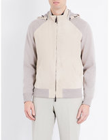 Canali Hooded Suede And Cashmere Bomber Jacket