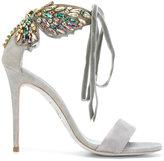 Rene Caovilla embellished butterfly heeled sandals
