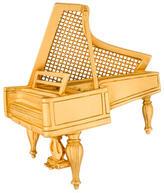 Karl Lagerfeld Piano Brooch