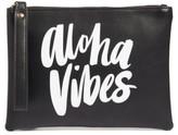 Ki-Ele Aloha Vibes Faux Leather Wristlet - Black