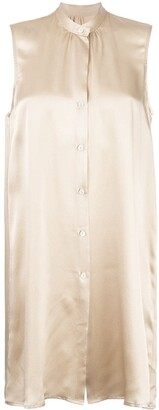 Voz Sleeveless Silk Shirt