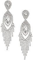 Cezanne Navette Rhinestone Fringe Statement Earrings