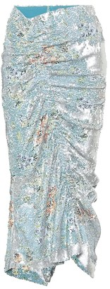 Preen by Thornton Bregazzi Floral sequined skirt