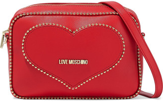 Love Moschino Convertible Studded Faux Leather Shoulder Bag
