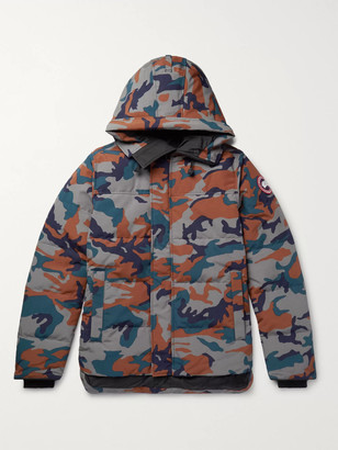 Canada Goose MacMillan Slim-Fit Camouflage-Print Quilted Arctic Tech Hooded Down Parka - Men - Gray
