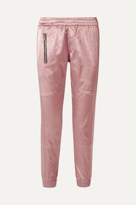 RtA Finn Cotton-blend Satin Track Pants - Blush