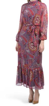 Mock Neck Dress With Raglan Sleeve