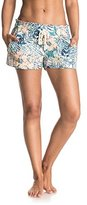 Roxy Junior's Oceanside Printed Beach Shorts Elastic Waist