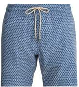 Faherty Beacon fish-scale printed swim shorts