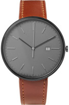 Uniform Wares M40 PVD-Coated Stainless Steel and Leather Watch