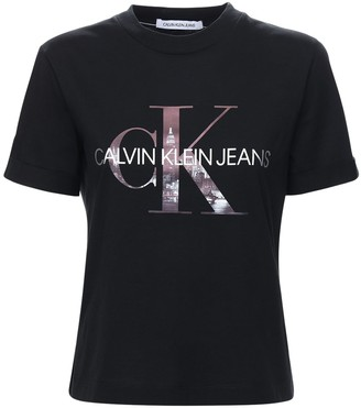 Calvin Klein Jeans New York Logo Cotton Jersey T-shirt