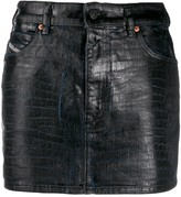 Diesel crocodile effect jean skirt