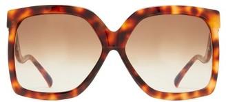 Linda Farrow Dare C2 Oversized Acetate Sunglasses - Womens - Tortoiseshell