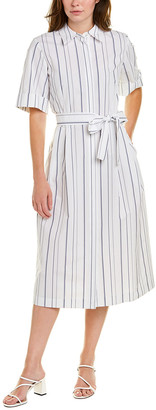 Lafayette 148 New York Eleni Linen Shirtdress